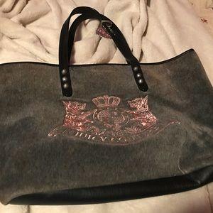 Small Juicy Couture gray handbag with Logo